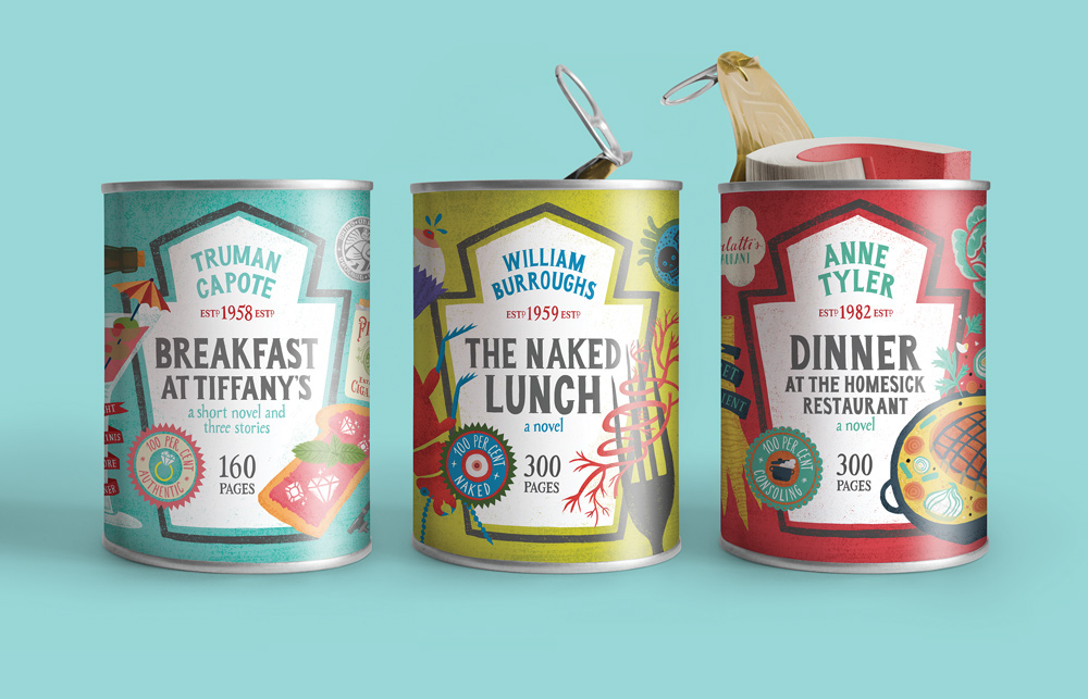 lettering book cover concept breakfast Food  Label