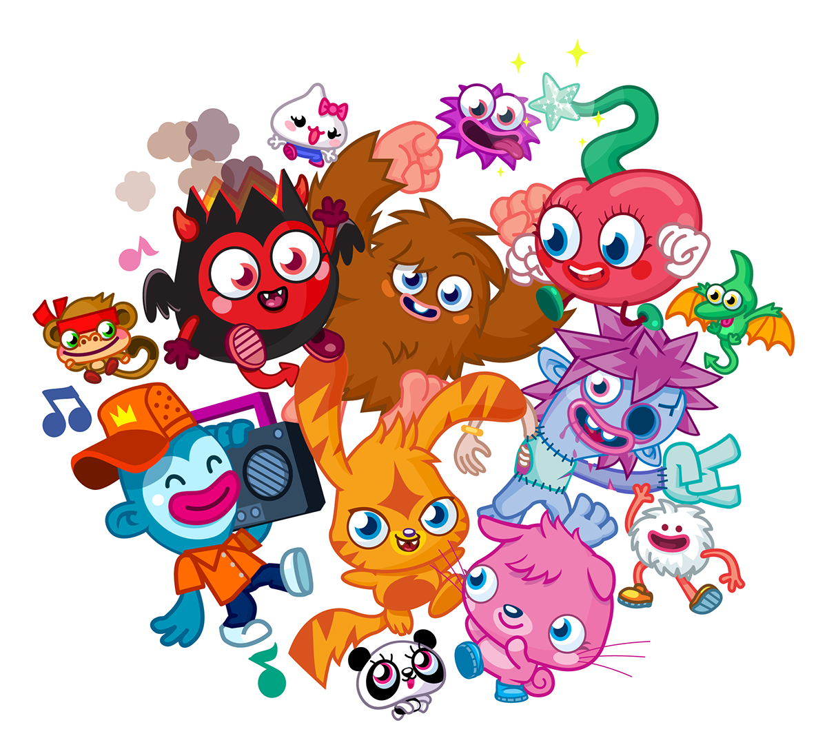 Moshi monster print out pictures