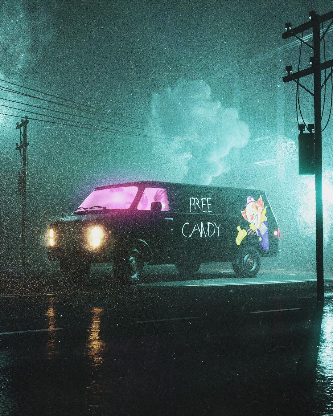 Cyberpunk Dystopia cinema4d octane Dangiuz altered carbon sci-fi vaporwave blade runner Neon Noir