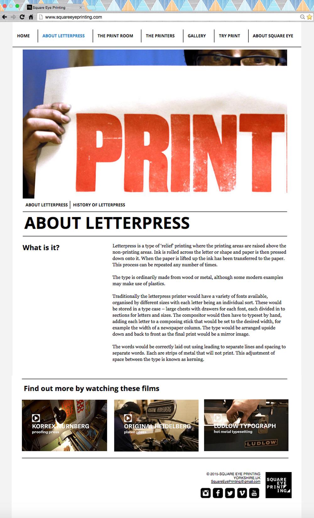 letterpress Documentary  Audience development Square Eye Printing yorkshire printmaking printer video content digital
