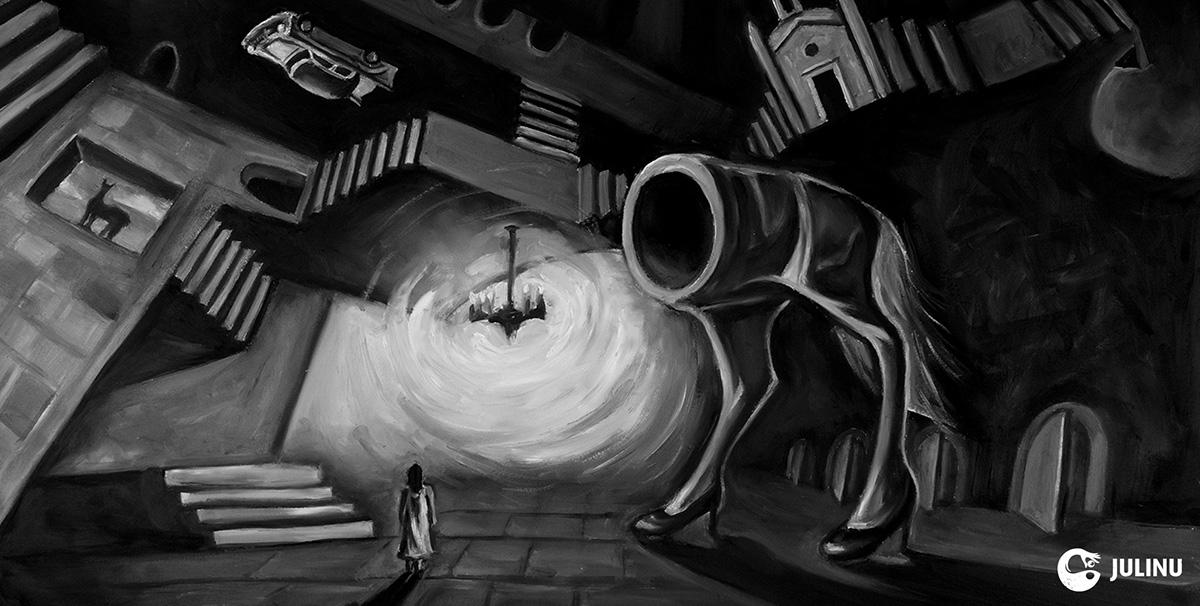 loophole stop motion oil paint stop frame julinu julian mallia surrealism absurdism existentialism philosophy  narrative sequential design university of brighton