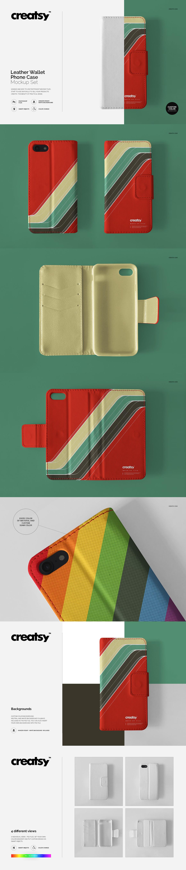 05c10a520202c7 Leather Wallet Phone Case Mockup Set on Behance