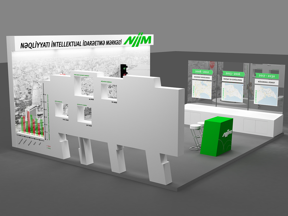 Exhibition stand design niim baku expo center on behance for International azerbaijan decor expo