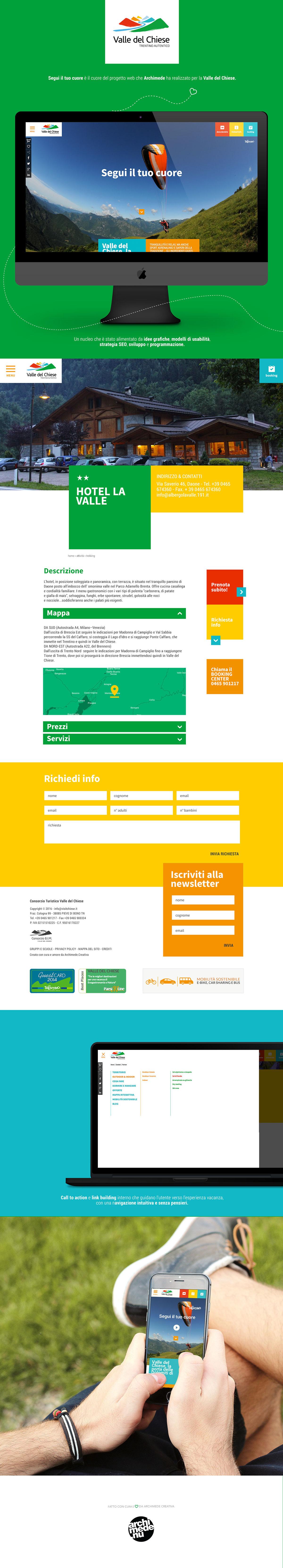 Visit Chiese Archimede Web Agency tourism tourist website Materiale Design Responsive Design mobile design Website website mock up UI ux sito web