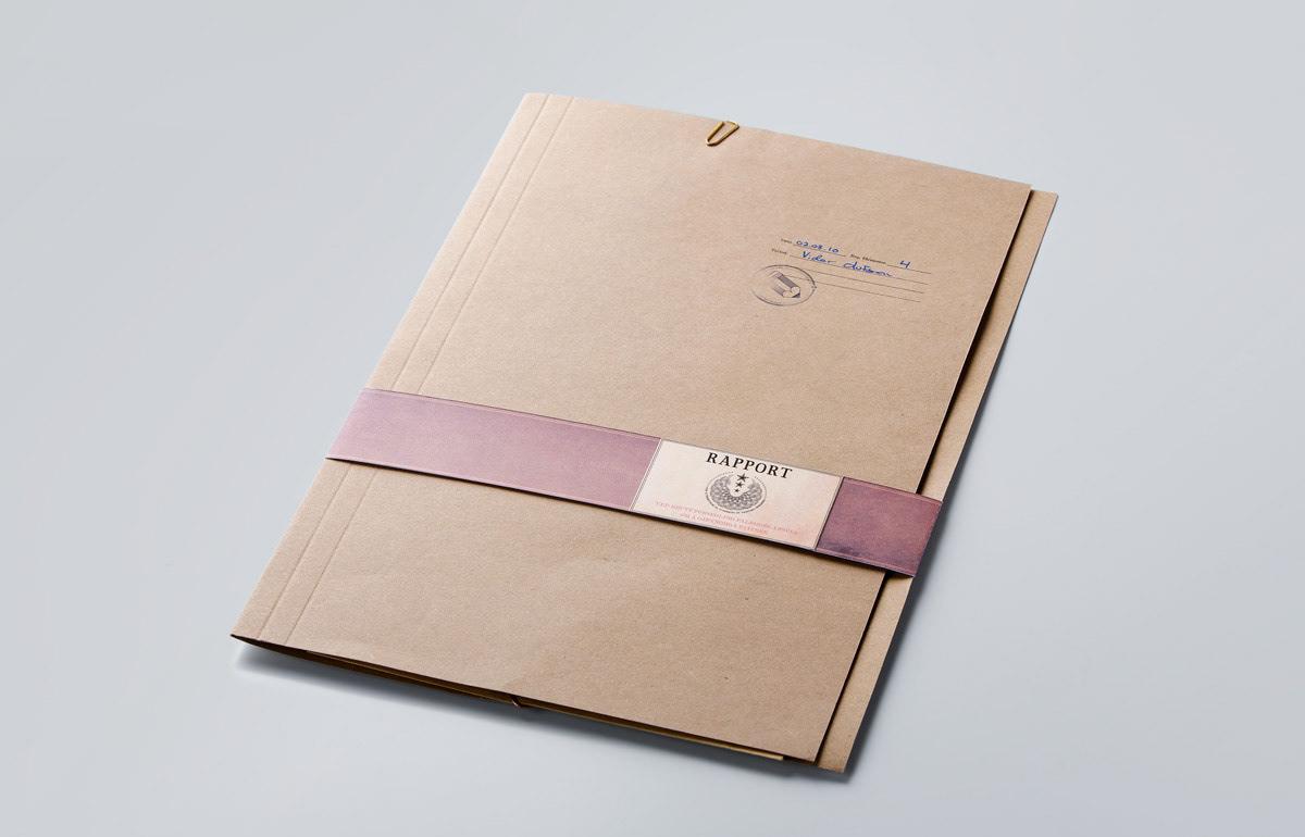 Resume CV Curriculum Vitae top secret document folder portfolio Self Promotion dossier Olufsen
