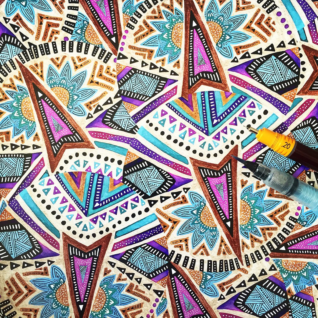 Tribal/Ethnic Pattern Designs on Behance - photo#15
