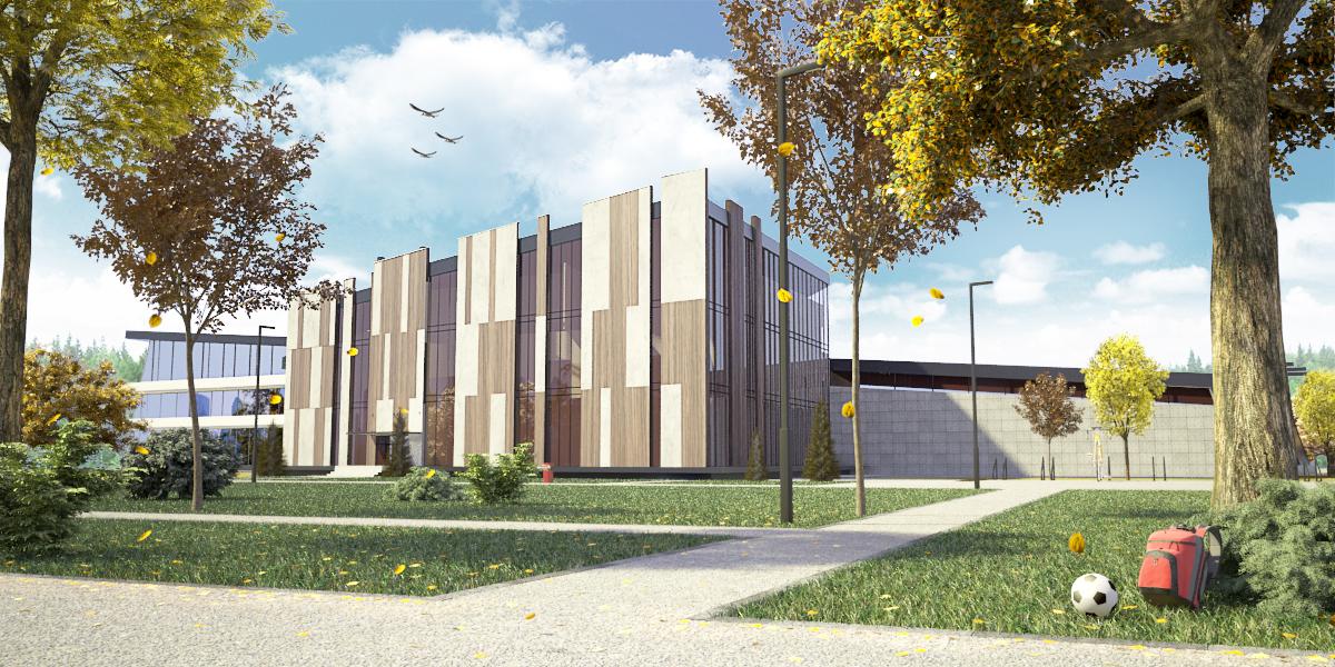 Project publicspace school building urbandesign architettura