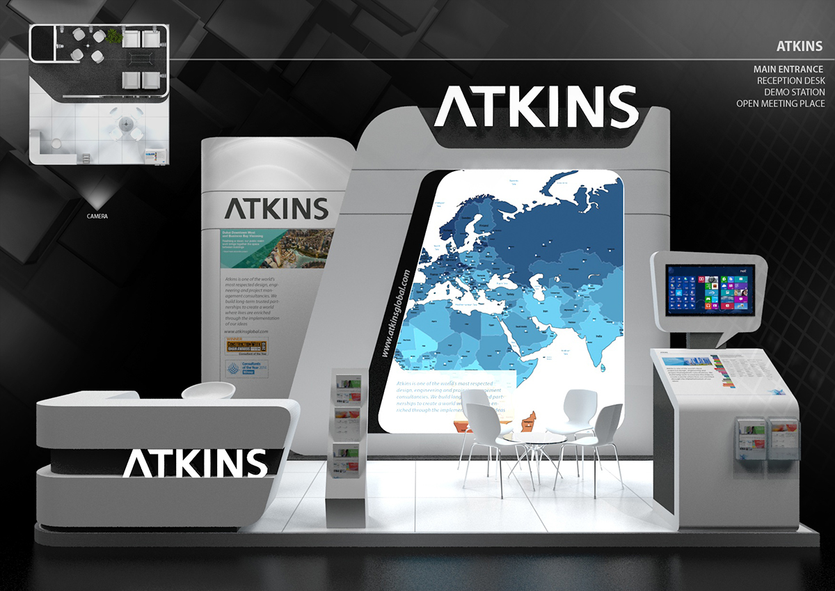 Exhibition Stand Reception Desk : Exhibition stand designs on behance