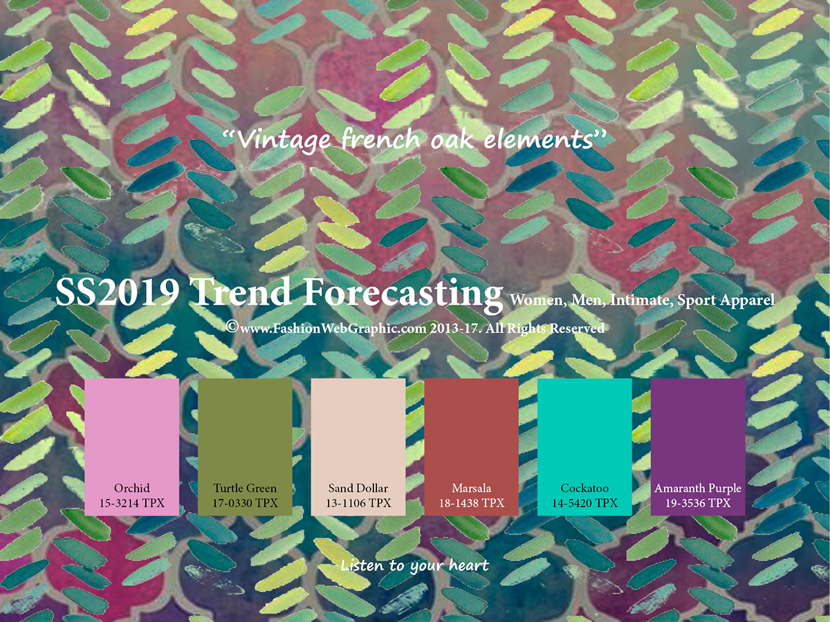 Colour Trend Ss2019 Trend Forecasting On Pantone Canvas Gallery