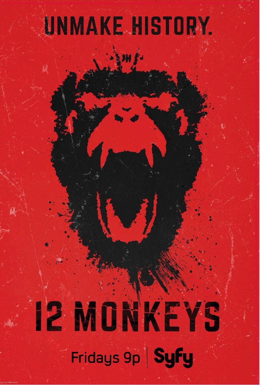 syfy  12 monkeys launch campaign on behance