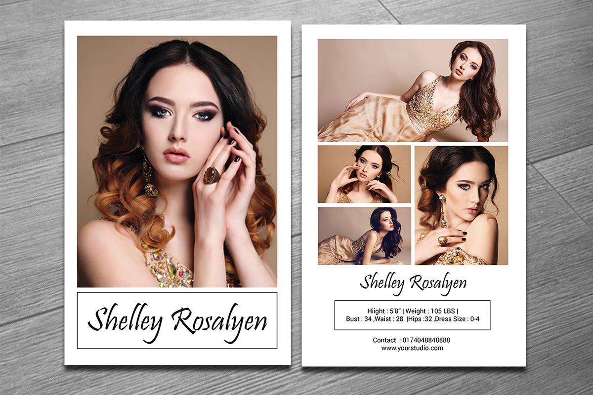 Modeling Comp Card Template on Behance Intended For Download Comp Card Template
