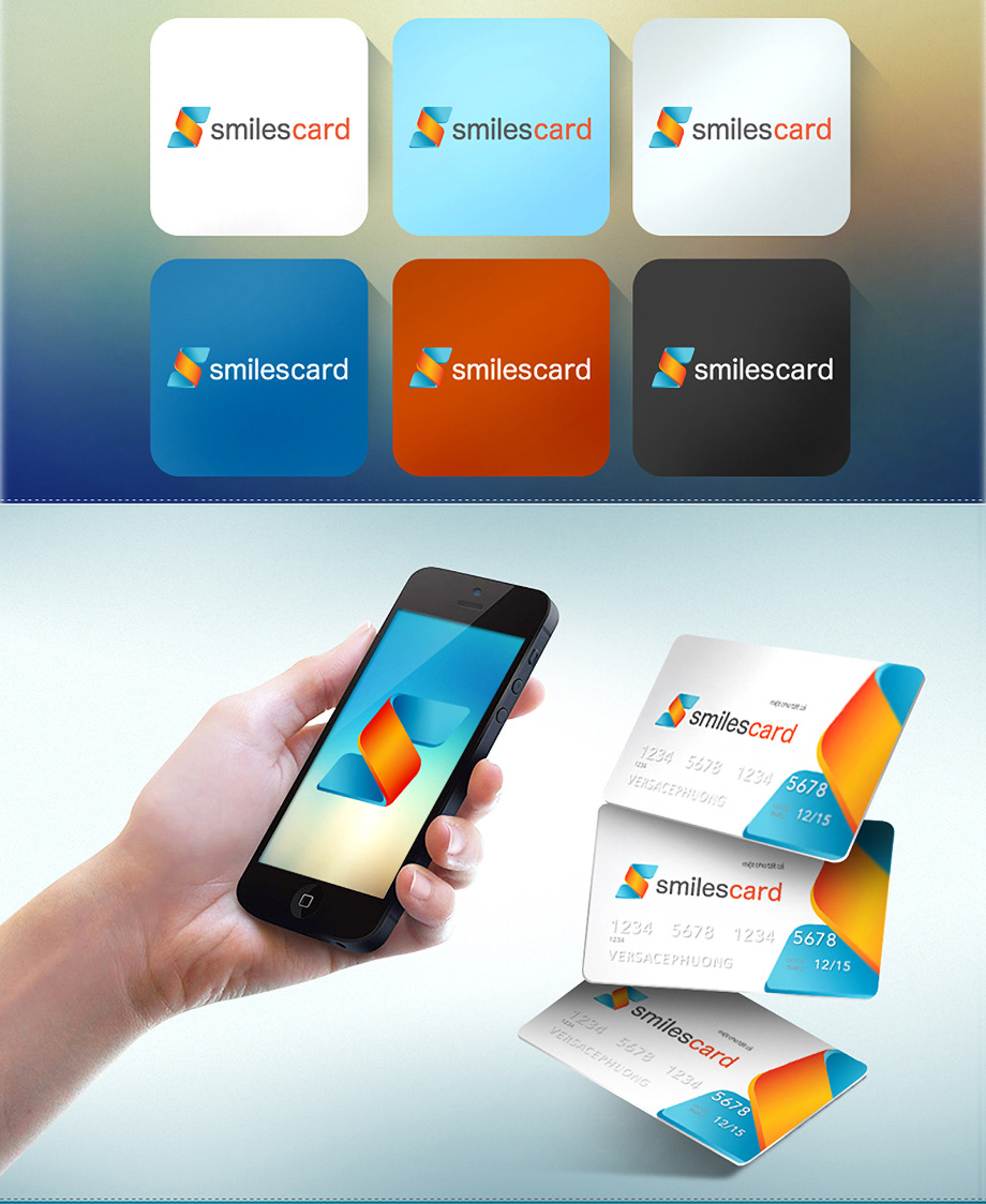 corporate graphic brochure blue branding  design Icon logo namecard posm smilescard