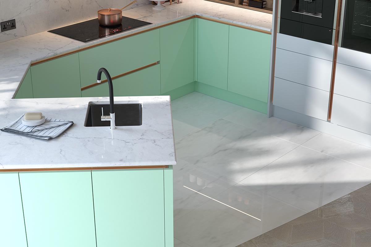 Macaroon CGI kitchens on Behance