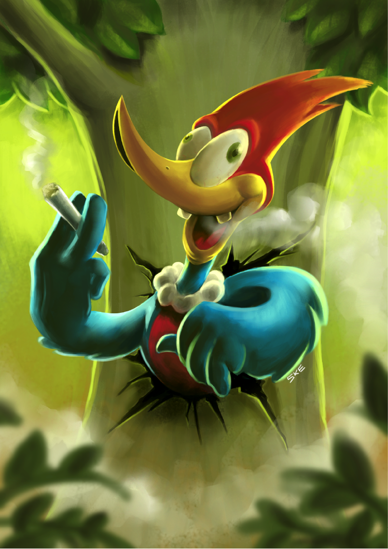 woody woodpecker crazy hemp marijuana pica pau