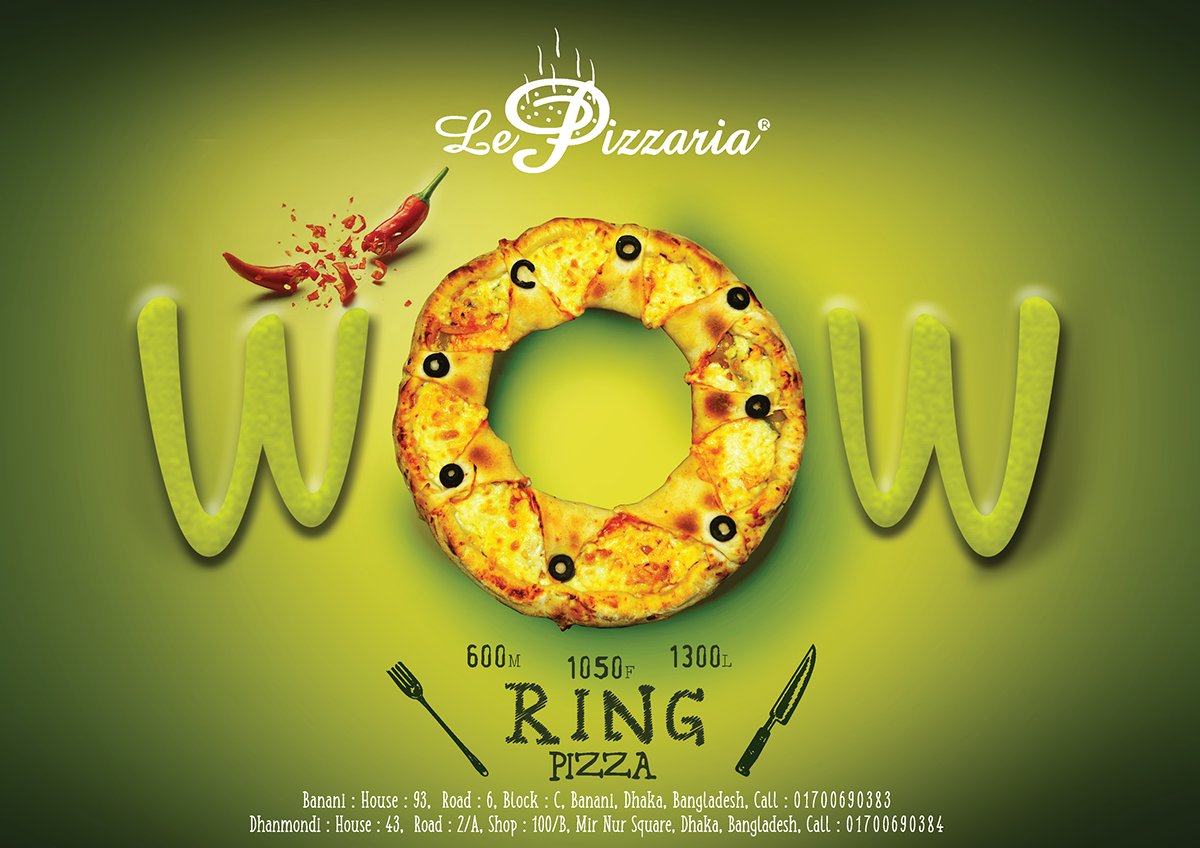 Ad Design For Le Pizzaria : Vol 1 On Behance