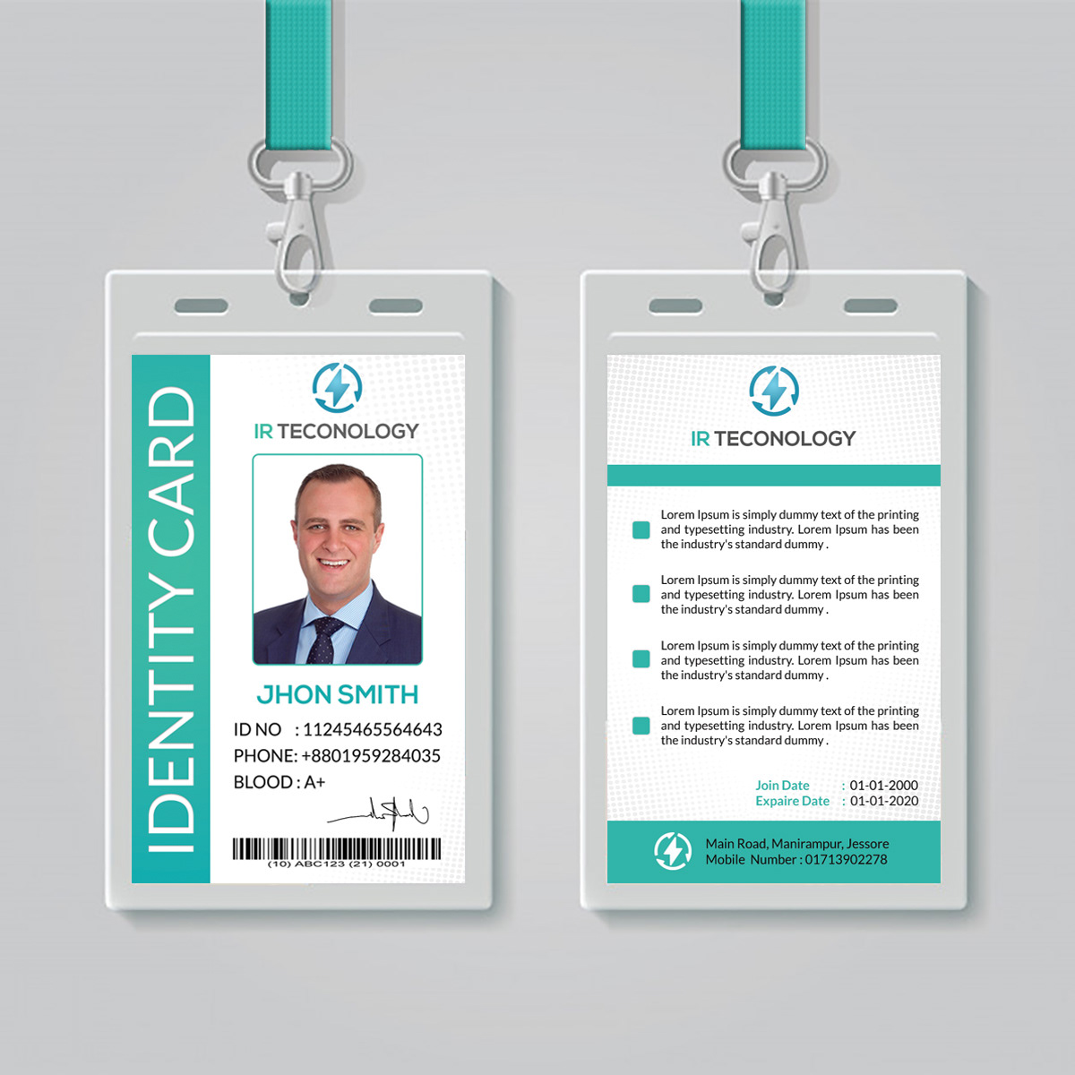 ID Card Psd Template On Behance