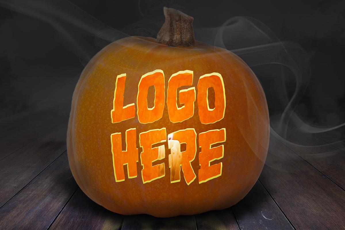 Jack o Lantern pumpkin Mockup photoshop psd Halloween spooky smile pupkin carving template jack o lanter Jackolantern Fall free