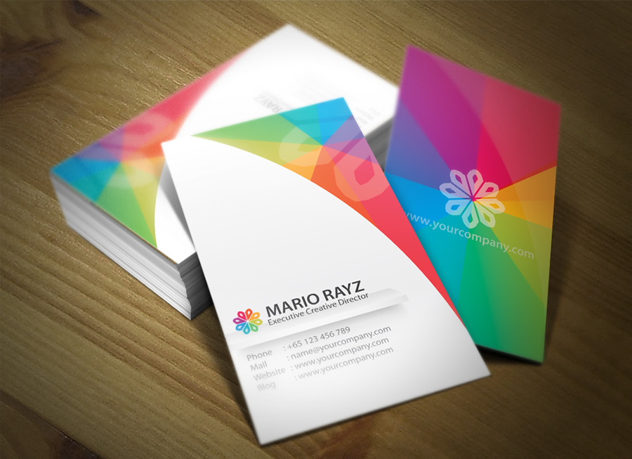 business card business rainbow colors fence transparent namecard corporate property logo SKY