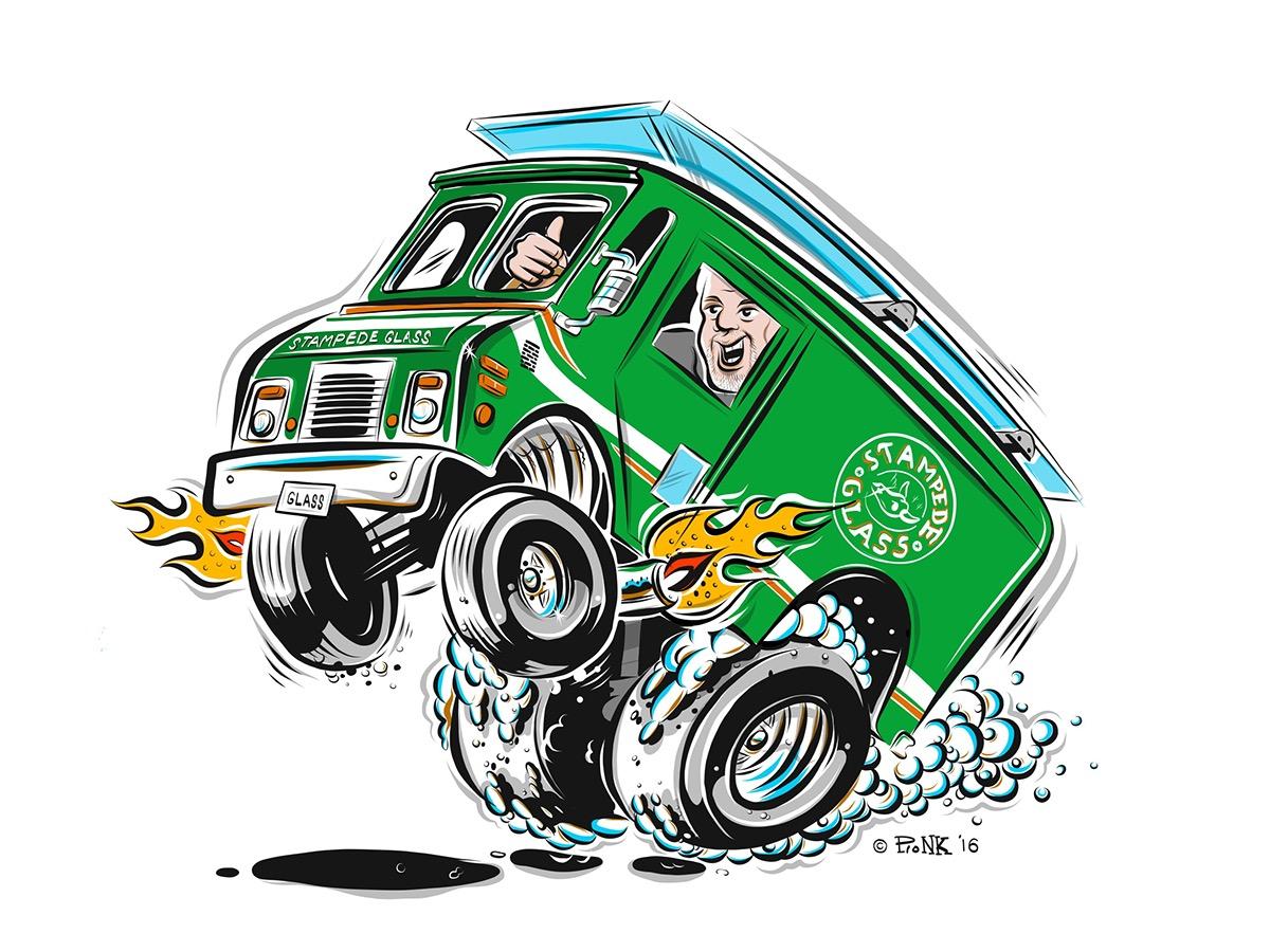 Honda St George >> Cartoon Hotrod Delivery Van on Behance
