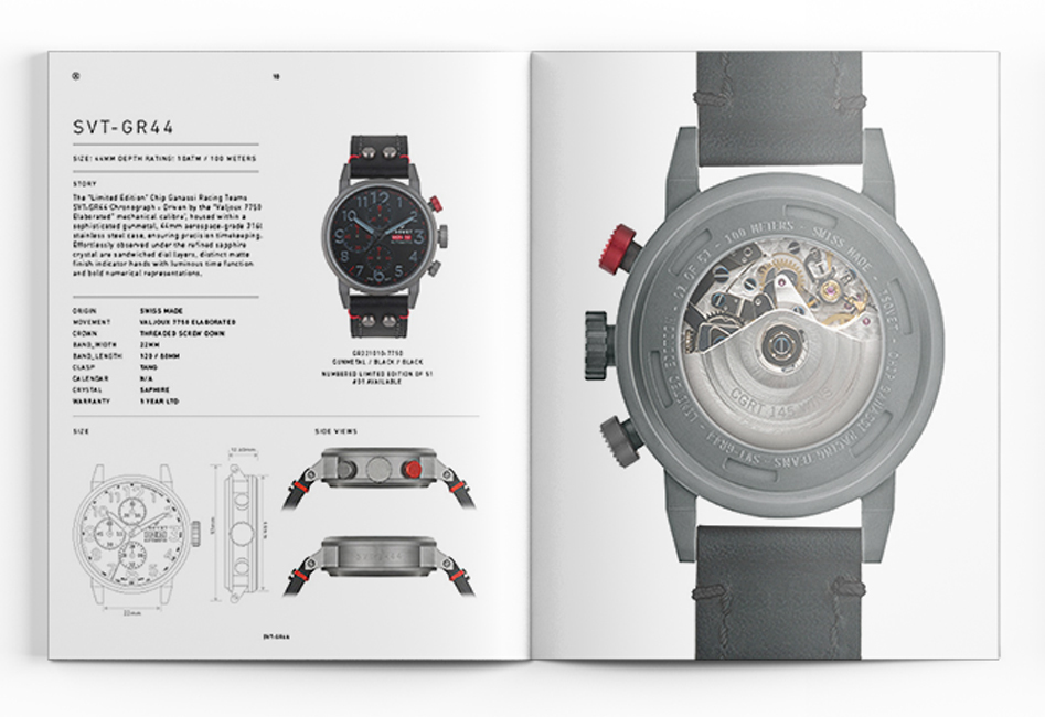 brochure design catalog design Layout Design typography   print design  graphic design  Watches accessories Surf California
