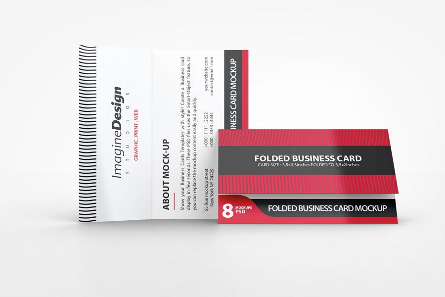 Folded Business Card Mockup V On Behance - Folded business cards template