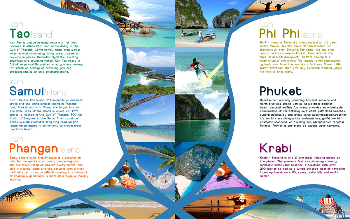 Thailand Travel Brochure. on Behance