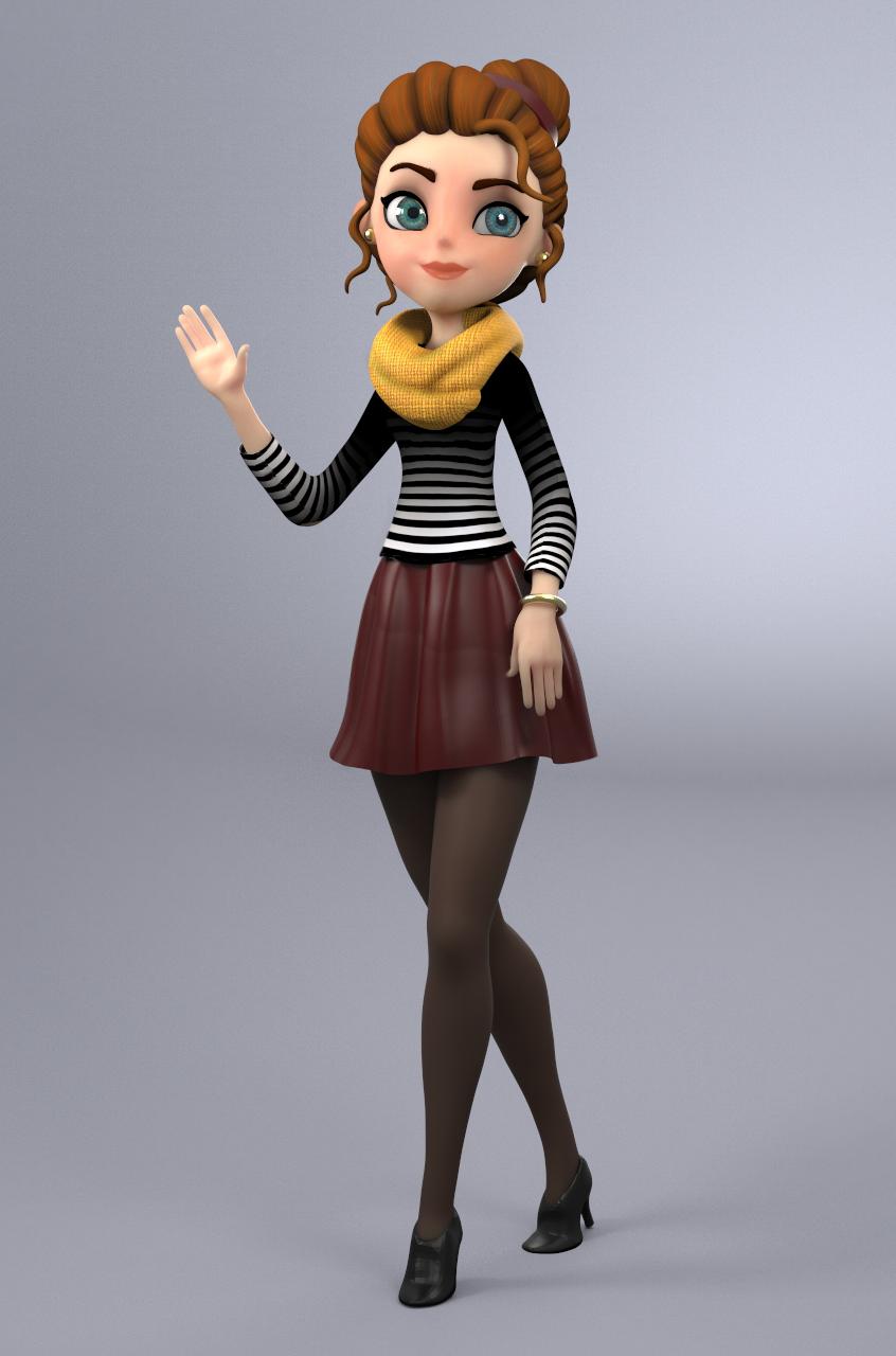 3d Character Design App : D cartoon girl on behance