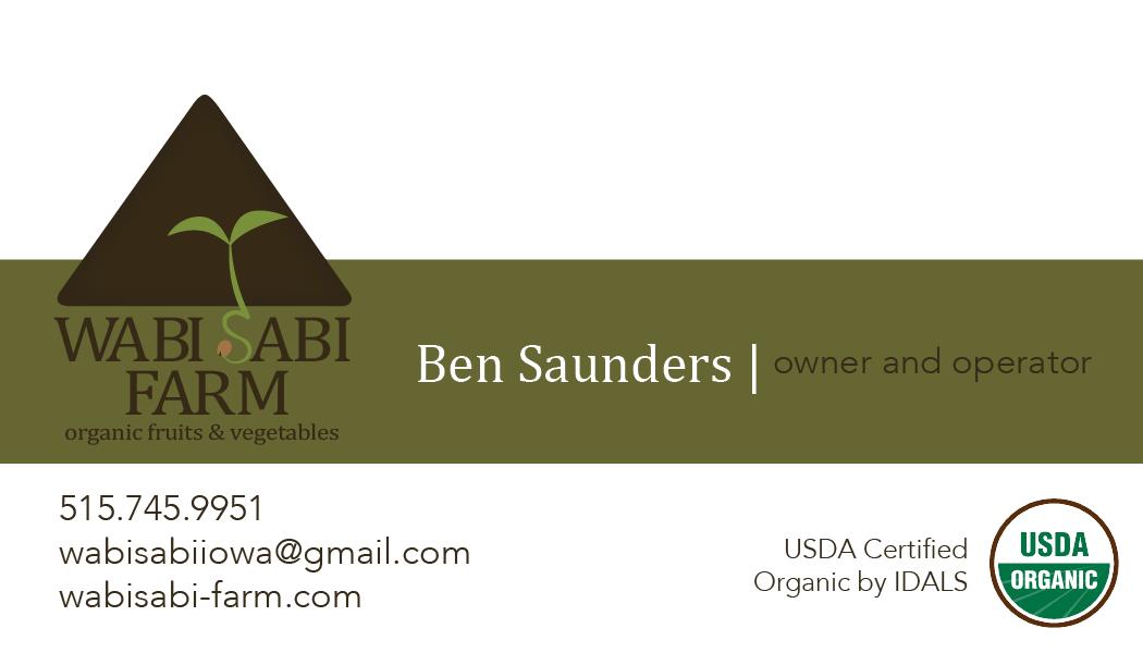 Melanie Buck - WabiSabi Farm Business Card