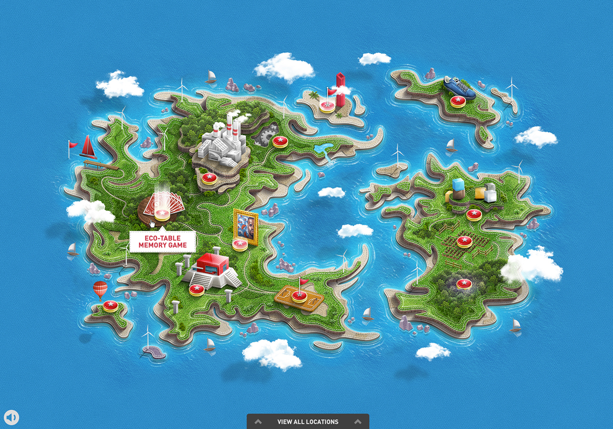 Viget 2012 14 on behance clever world world map gumiabroncs Choice Image