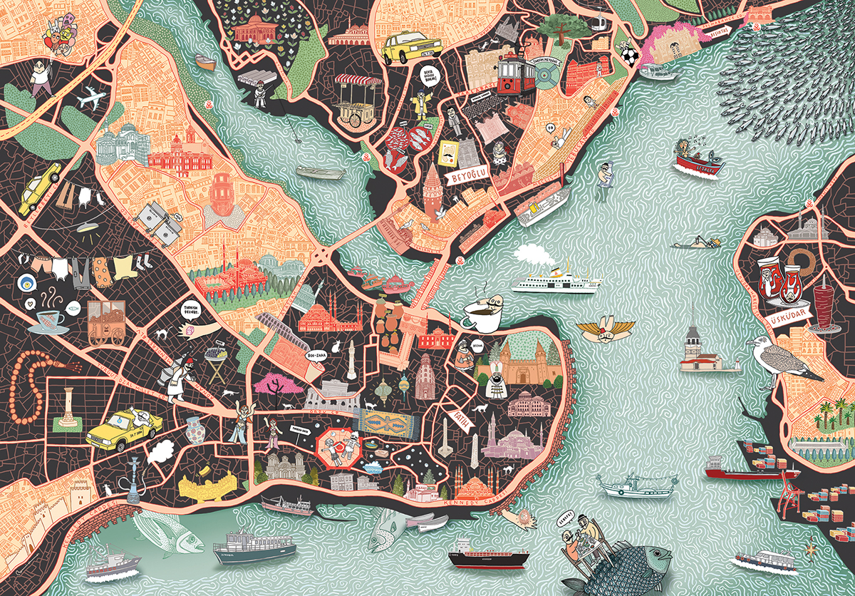 CITIx60 Istanbul Map Illustration on Behance