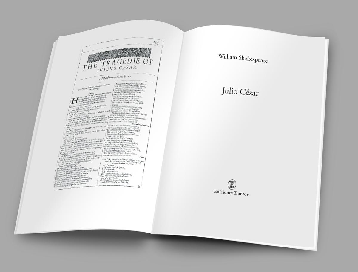 Cubierta de Julio César de Shakespeare