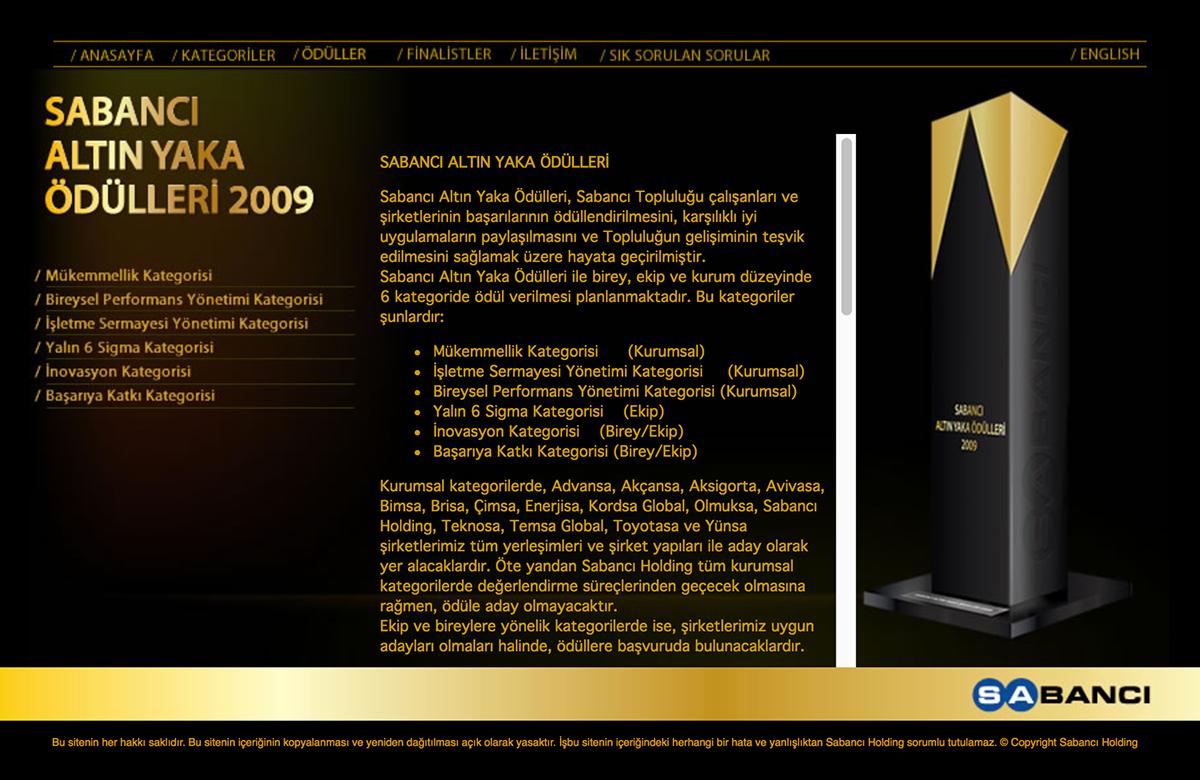 sabancı corporation Awards internal golden collar