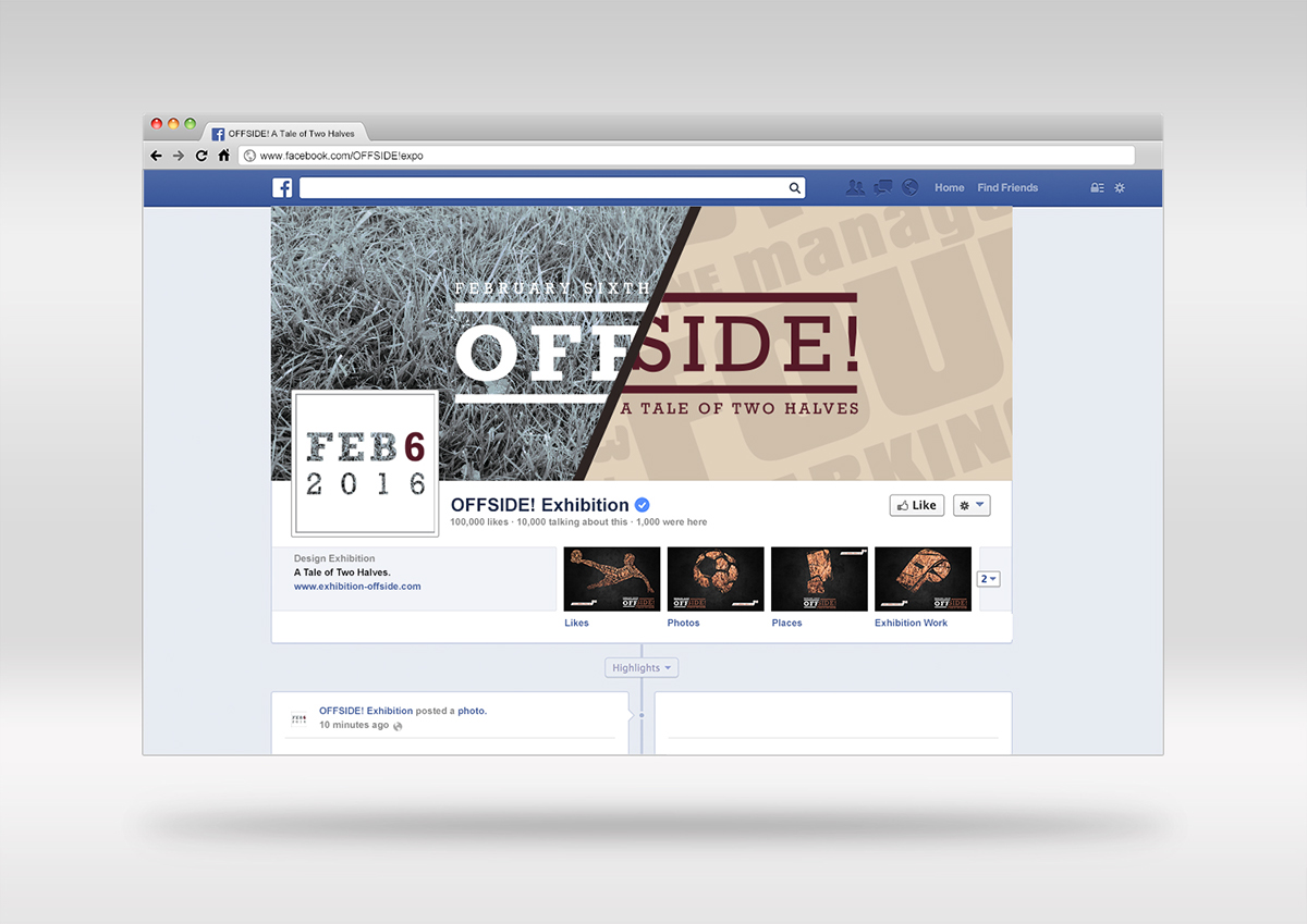 OFFSIDE! Exhibition - Branding Project on Behance