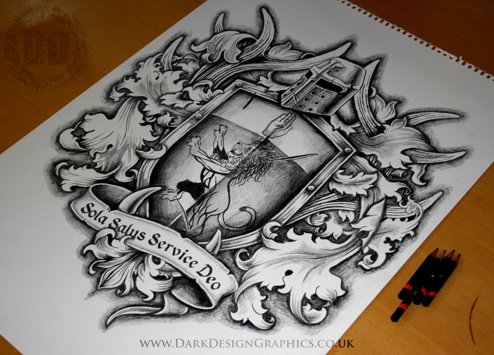creating a custom coat of arms tattoo design on behance. Black Bedroom Furniture Sets. Home Design Ideas