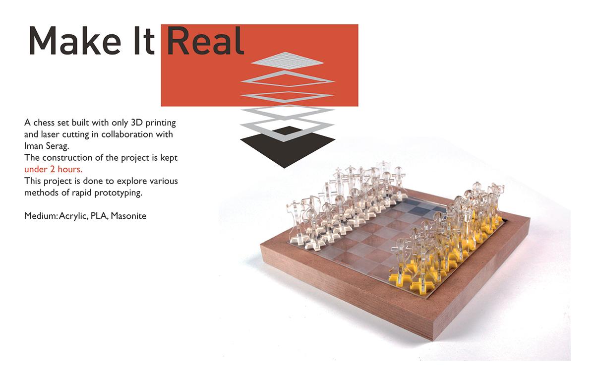 Rapid Production: Chess Board Design on RISD Portfolios