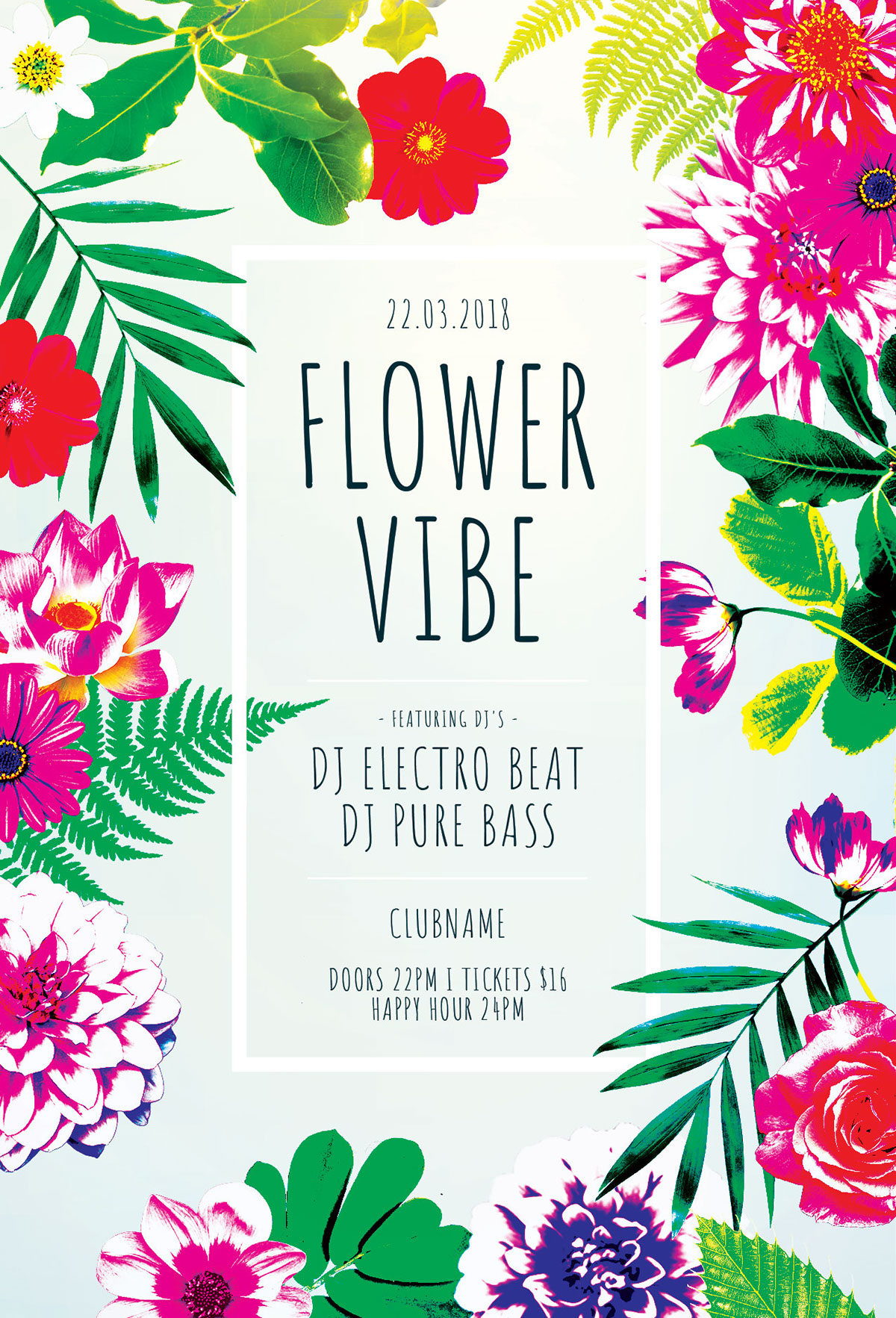floral poster designs on behance