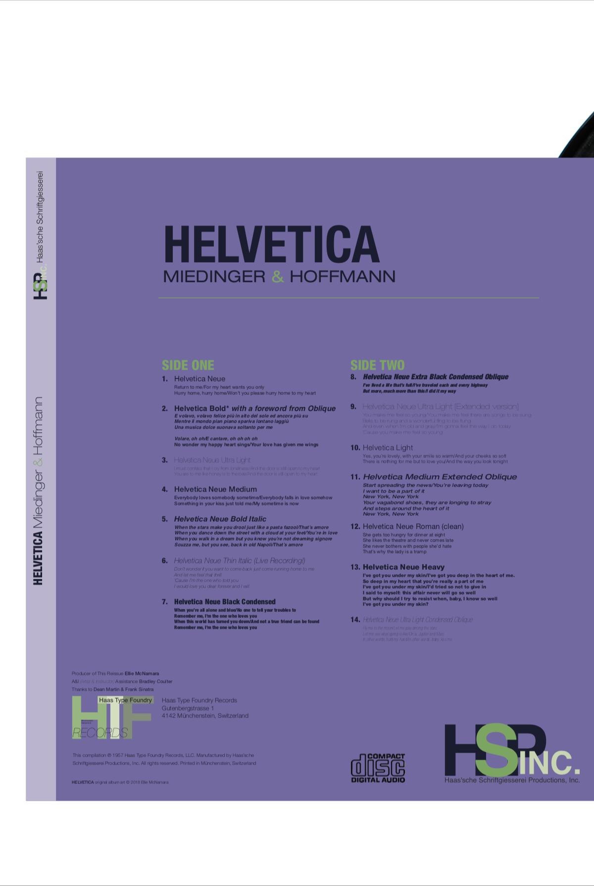 Helvetica | Typeface Poster on Behance