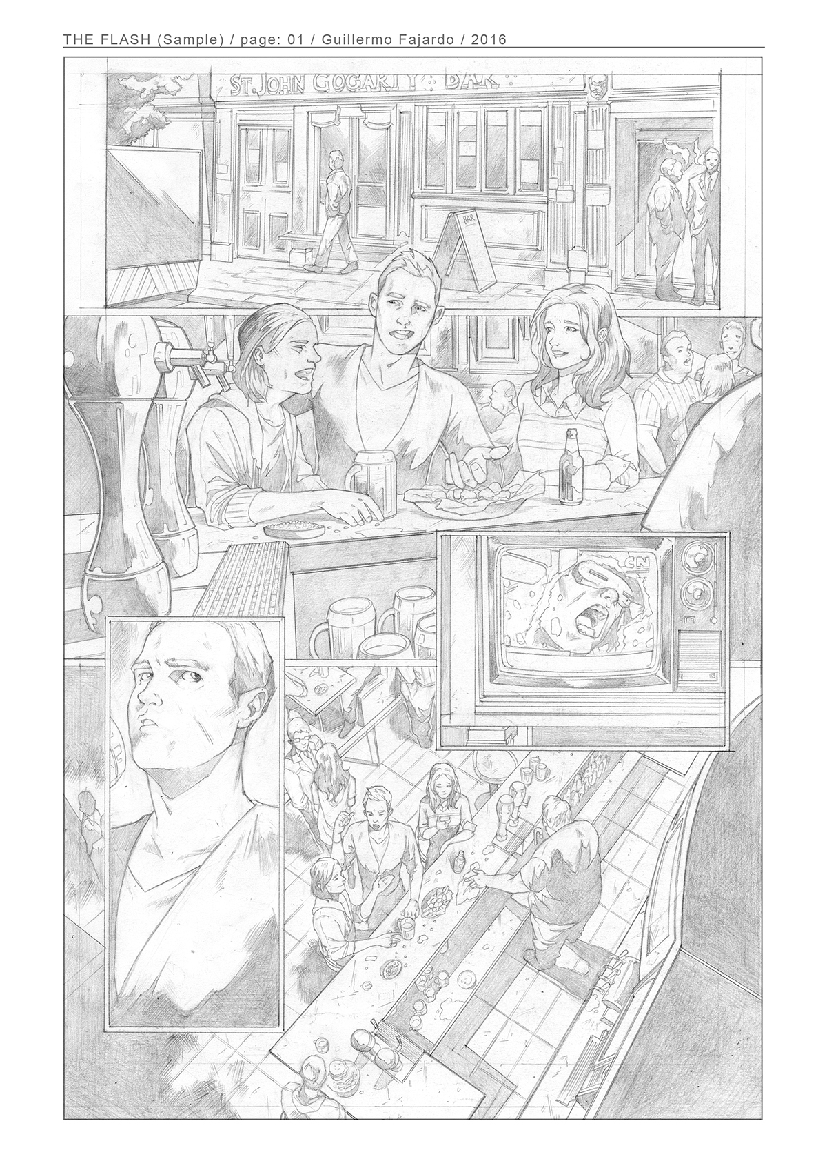 comic Flash sample pages panel Dc Comics marvel justice league secuencial   storytelling   narrative handmade pencil