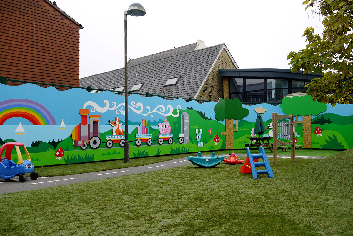 Educational murals graphics on behance for Educational mural