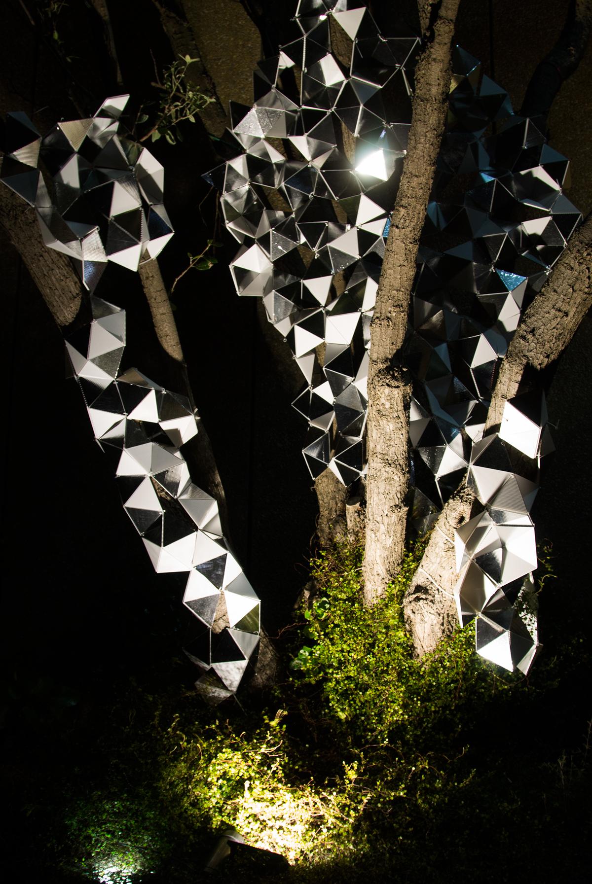 Adobe Portfolio light sculpture interactive installation shadow