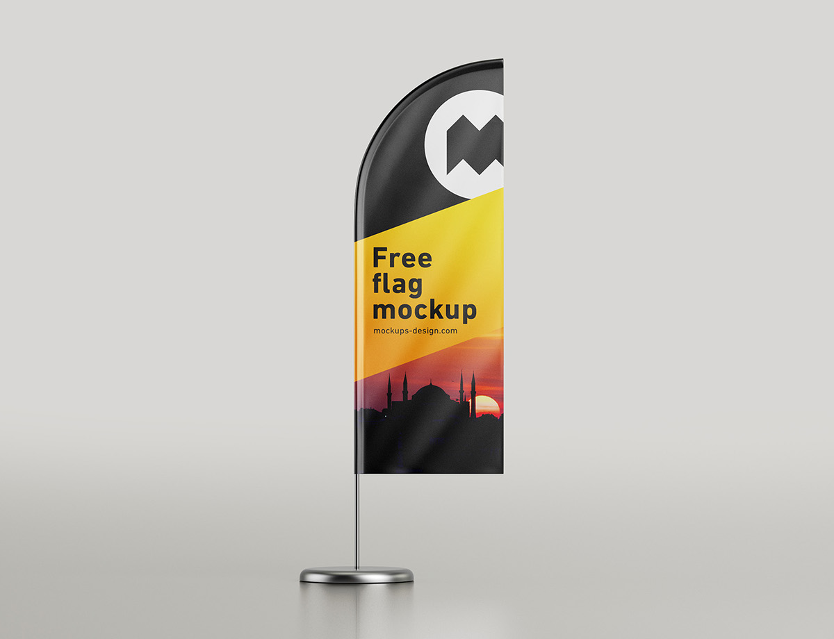 Free feather flag mockup on Behance