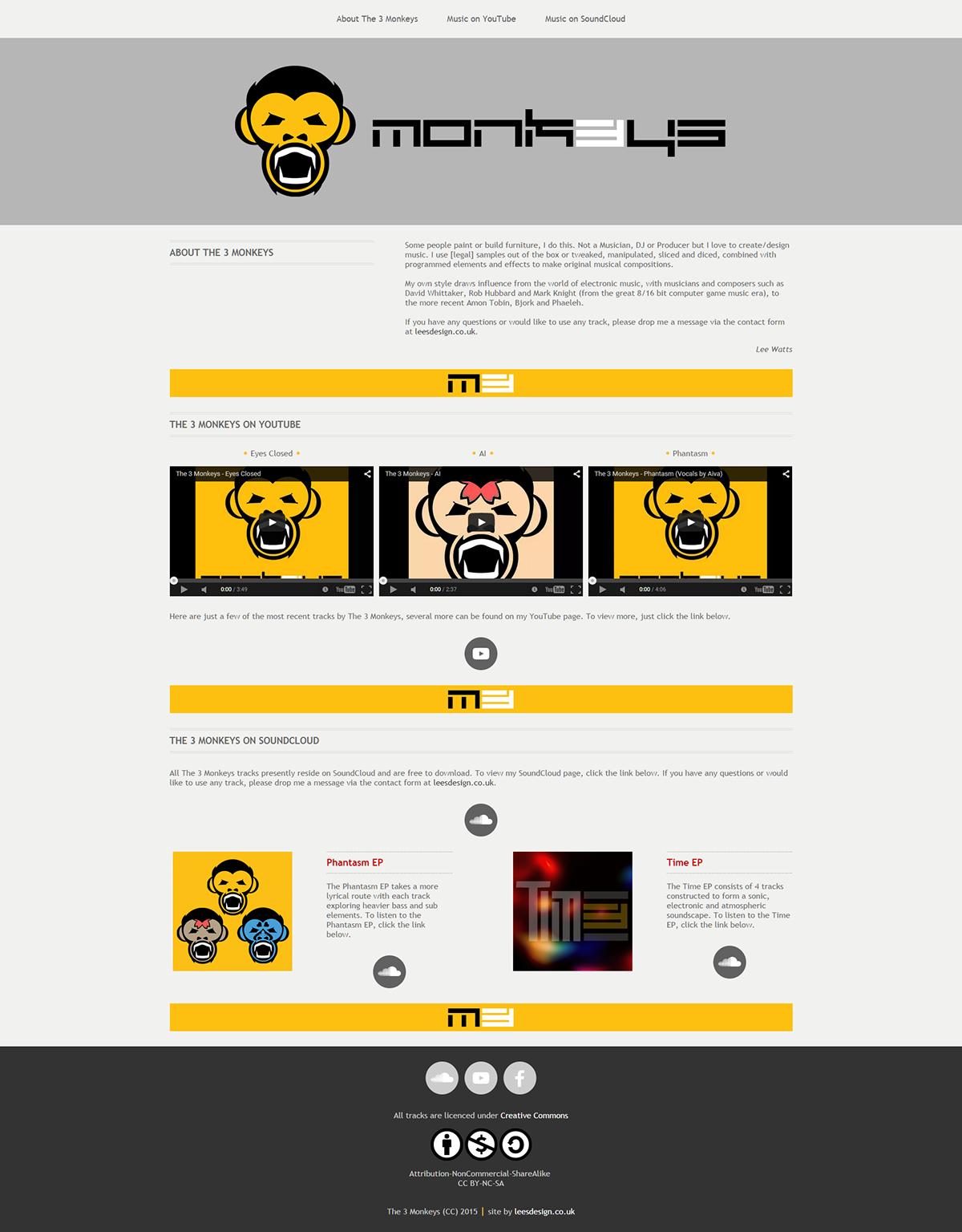 The 3 Monkeys responsive website on Behance