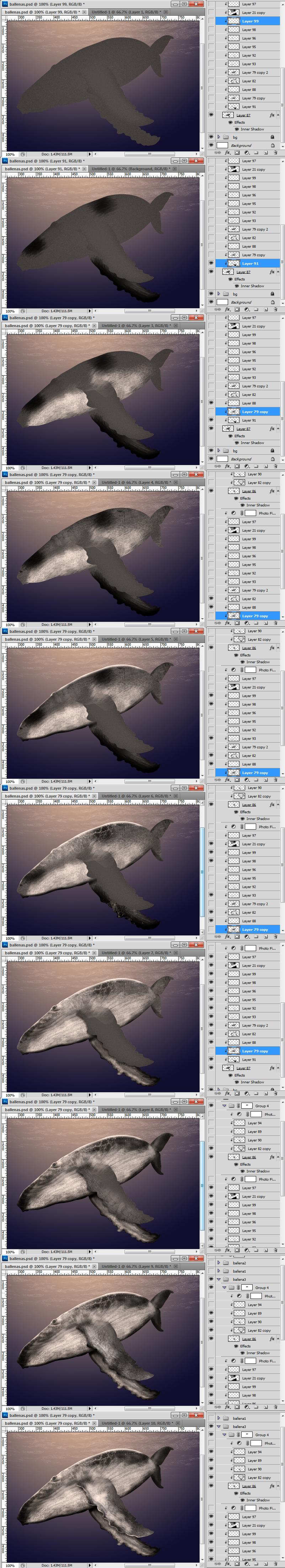 Whale tutorial ilustracion mexico sueño