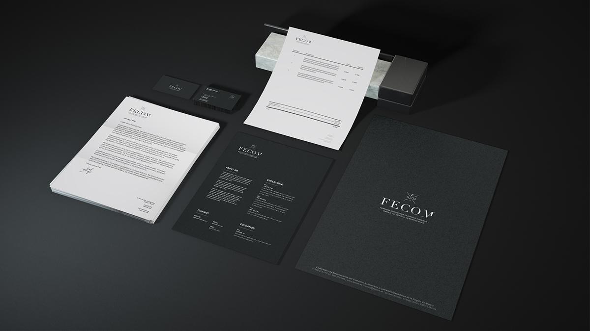 brand branding  ivc identity Logotype business card business FECOM RESTYLING murcia