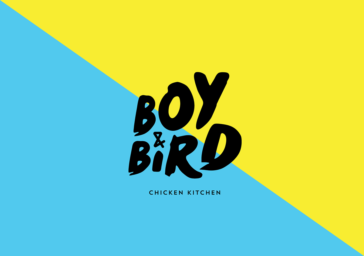 Chicken Kitchen Logo boy & bird chicken kitchen branding on behance