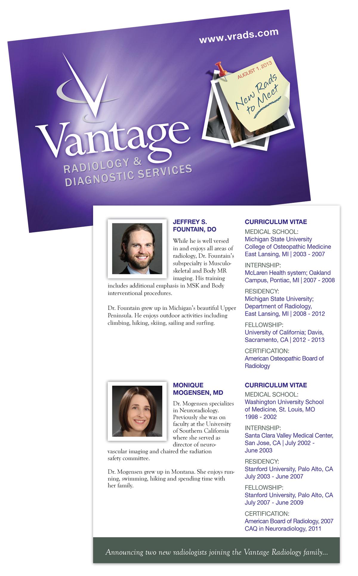Tamara Vileta - Vantage Radiology / Rebranding