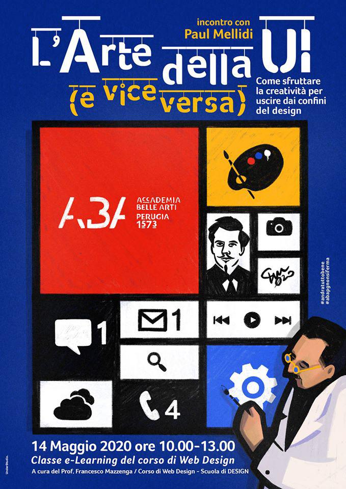 Accademia Belle Arti,Arte UI,design,Francesco Mazzenga,graphic design ,Paul Mellidi,perugia,user interface,Videoconferenza,Web Design