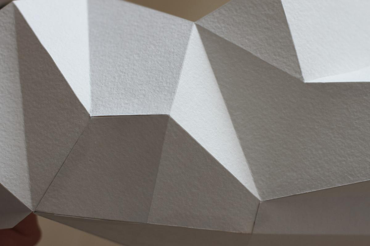 elephant paper origami  слон бумага скульптура интерьер полигоны polygonal грань flat 2D Pattern развёртка животные
