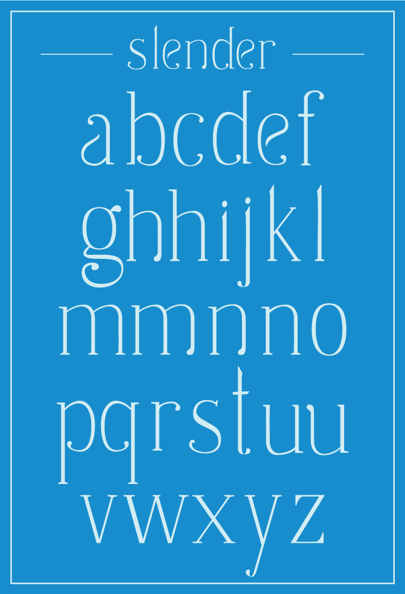 handwritten Slender handmade Typeface organic serif