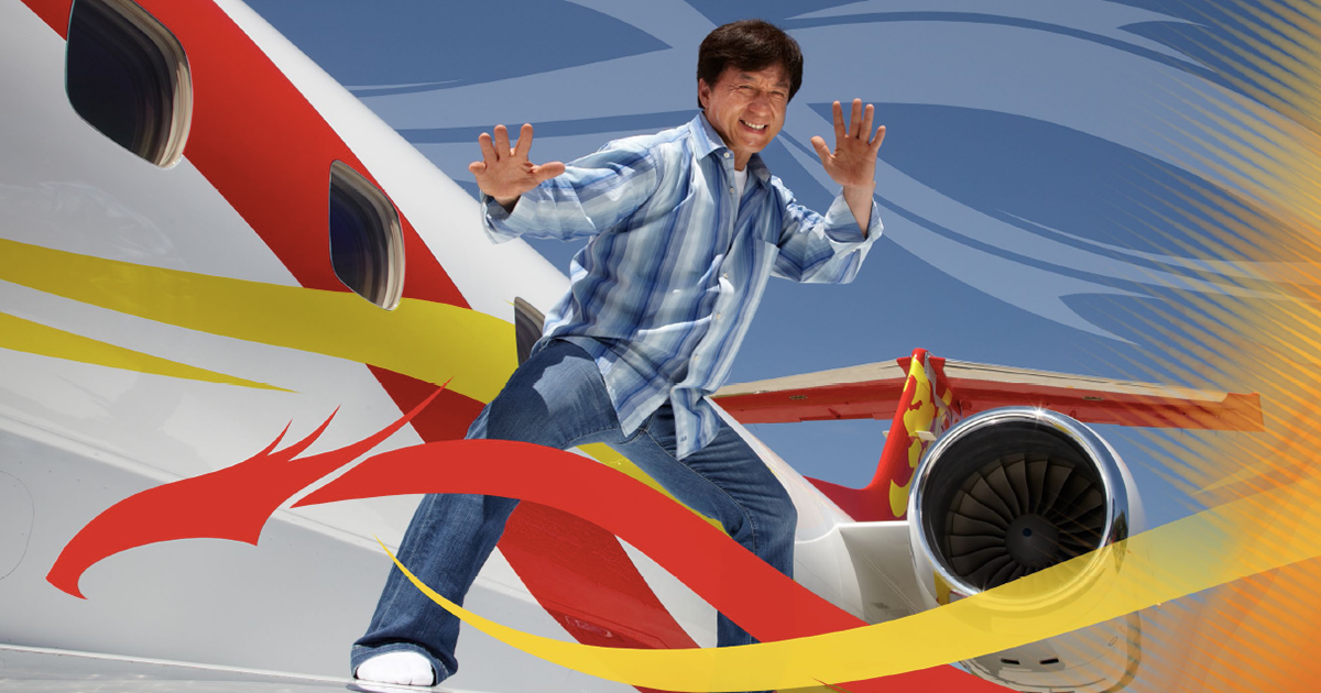 Zhuhai Airshow 2014 Jackie Chan Embraer Aerospace Aircraft Displays jets luxury marketing   Trade Show